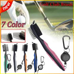 7 Color Golf Club Brush Golf Groove Rengöringsborste grey