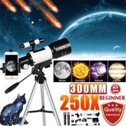70 mm bländare monokulärt HD 150X astronomiskt teleskop Monocular set&phone holder