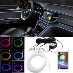 Bil Ambient Light Dashboard Dekorationsapp kontroll Led Strip 1 set