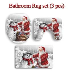 3st Jul Santa Claus Toalettöverdrag Badrumsmattor