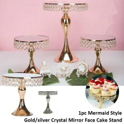Crystal Cakestand galvaniserande spegel ansikte för Fondant Cupcake gold 20.4 x 20.4 x 20cm
