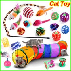 Kattleksak Husdjur Kattleksaker Kattunge Leksakstunnel Inomhus Interaktiv leksak Style E