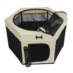 MC Star Portable Dog Playpen (Svart, 90 * 90 * 61cm) svart 90 x 61cm