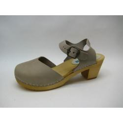 Trätoffel sandaletter träskor MOHEDA Dolly galet beige 41