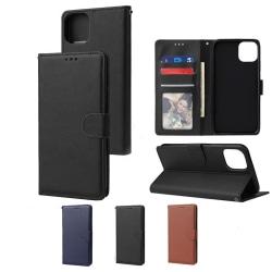 iPhone 12 / 12 Pro 6,1 Inch Plånboksfodral - 3 Färger svart