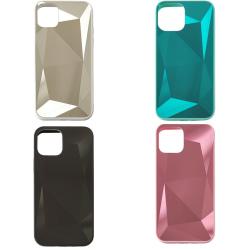 iPhone 12 Pro Max Diamant Bling Spegel Skal - 4 Färger rosa
