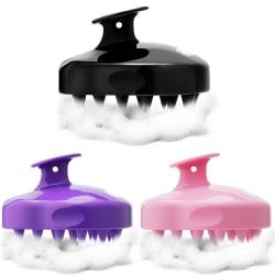 Massage Borste & Peeling av Hårbotten - 3 Färger svart