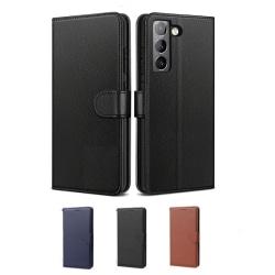 Samsung S21 Plånboksfodral - 3 Färger svart