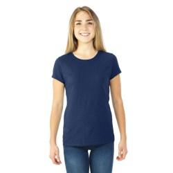 AMERICAN TOP QUALITY GILDAN WOMEN-V-NECK T-SHIRT-NAVY-LARGE blå L