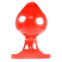 All Red Vinyl Anal Plug 22 cm Grövre analplugg