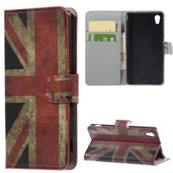 Plånboksfodral Sony Xperia M4 Aqua - Flagga UK