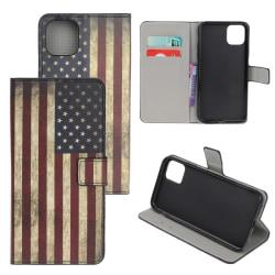 Plånboksfodral Apple iPhone 12 - Flagga USA
