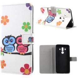 Plånboksfodral Huawei Mate 10 Pro – Ugglor & Blommor