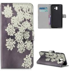 Plånboksfodral Samsung Galaxy J6 Plus - Små Blommor