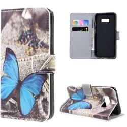 Plånboksfodral Samsung Galaxy S8 Plus – Blå Fjäril