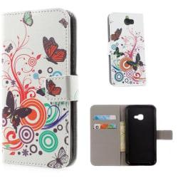 Plånboksfodral Samsung Xcover 4 / 4s - Vit med Fjärilar