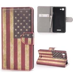 Plånboksfodral Sony Xperia E3 - Flagga USA