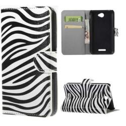 Plånboksfodral Sony Xperia E4 - Zebra