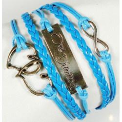 Symbol Infinity Hjärtan One Direction Mode Läderimit. Armband