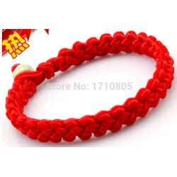 Vänskaps Amulett Lycko Makramé armband rött snöre Red String