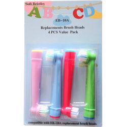 4-Pack Oral-B Kompatibla Tandborsthuvud barn kids EB-10A