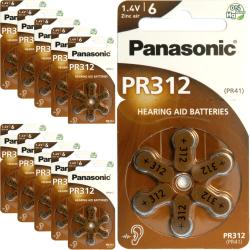 312 60-Pack PANASONIC - Hörapparatsbatterier PR312