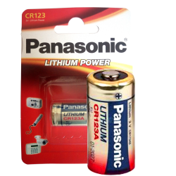 CR123A Panasonic 1-P Litium 3V