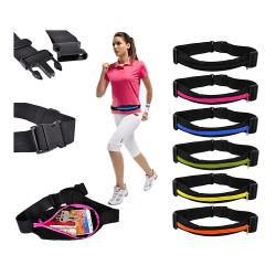 Sportbälte för plånbok nycklar mobil etc Svart