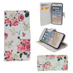 iPhone 5/5s/SE2016 - Fodral / Plånbok i Läder - Blommor