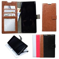 Samsung Galaxy Note10 - Läderfodral / Skydd Svart