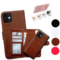 iPhone 11 Pro Max - Läderfodral / Skydd Brun