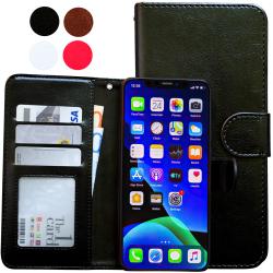 iPhone 11 Pro Max - Läderfodral / Skydd Svart