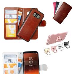Samsung Galaxy S8 Plus - Läderfodral / Magnet Skal Brun
