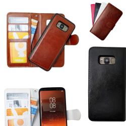 Samsung Galaxy S8 Plus - Läderfodral / Magnet Skal Vit