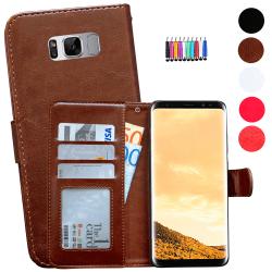 Samsung Galaxy S8 Plus - Läderfodral/Skydd Brun