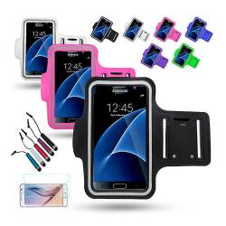 Sportarmband Samsung Galaxy S7 + 3 i 1 Kit Rosa