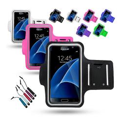 Sportarmband Samsung Galaxy S7 + Touchpenna Lila