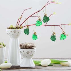 12 stycken St.Patrick's Day shamrock ornament set dekoration