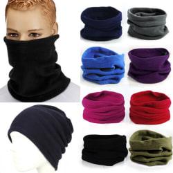 Unisex mjuk fleece halsduk Vindtät hals varmare vanlig balaclava Black