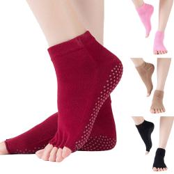 5 Par Dansa halkfria strumpor utan tå halkfria strumpor