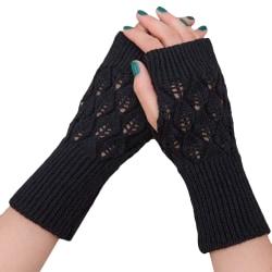 Kvinnans fingerfria handskar Handskar Halva fingerhandskar black