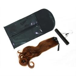 Peruker hängare hår förvaringsväska svart dammtät påse arrangör Black 1pc