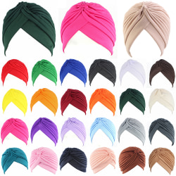 Dammode turban hatt mössa mössa turban retro turban black