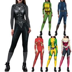 America Super Heroes Bodysuits Cosplay Halloween black M