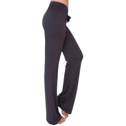 Kvinnors yoga -byxor med hög midja och löst löpning dark grey L