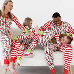 Christmas family matching pajamas suit boys and girls baby Children's 2T
