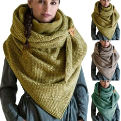 Dam varm lång halsduk, vinter halsduk enfärgad halsduk