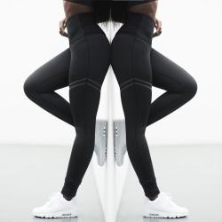 Kvinnors fitness yogabyxor, leggings, sportbyxor black S