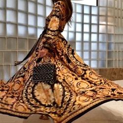 Europeisk och amerikansk klänning sexig djup V-slits lång kjol yellow L