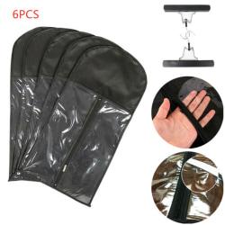 6x peruker hängare hårförvaringsväska svart dammtät påse arrangör Black 6pcs